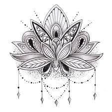 Bildergebnis für tattoo lotusblüte schwarz weiß