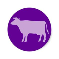 sold 12 sheets of Crazy Purple Cow Silhouette round stickers