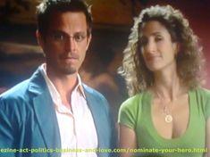 Carmine Dominick Giovinazzo, Detective Danny Messer in #CSI New York with Melina Eleni Kanakaredes Constantinides, Detective Stella Bonasera on #Nominate Your Hero, or Heroine.