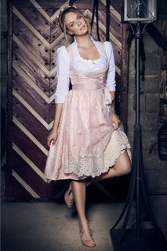 Joana Danciu - Dirndl - Sina - tropical - light- rose