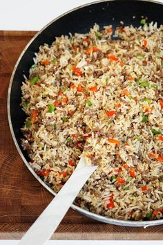 Fried rice with minced beef – Recipe for easy and quick dinner - Salat Food N, Good Food, Food And Drink, Beef Recipes, Cooking Recipes, Healthy Recipes, Fast Food, Rind, Fried Rice