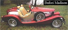 Bufori Madison (1986 - 1988)[edit]  Bufori Madison Two-seat convertible with soft top; 1.6L, 4 cylinder, rear-mounted, air-cooled boxer engine; rear-wheel drive; manual transmission; 4-wheel independent suspension.