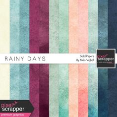 Rainy Days Solid Papers Kit