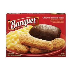 Banquet Frozen Dinners Meals ❤ liked on Polyvore featuring food and food & drinks