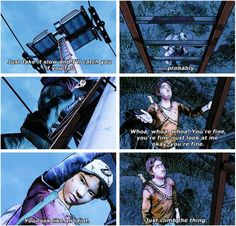 Luke and Clementine | The Walking Dead funny scene twdg - Telltale game