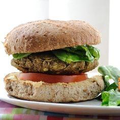 Killer lentil veggie burgers!