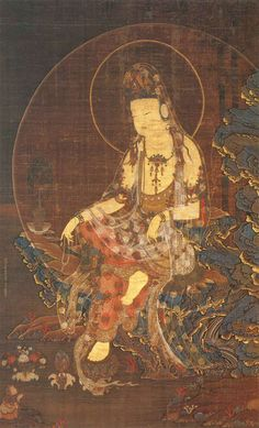 """Suigetsu Kannon/the 'Kannon,'or Goddess of Mercy, whose appellation, when translated from the Sanskrit, may be rendered """"Kannon-Viewing-the-Water-Moon"""""""