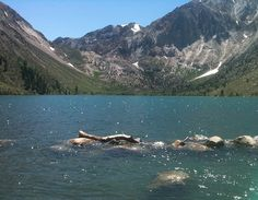 Mammoth Lakes, California.  that water was extremely cold but ahhh so beautiful!! <3