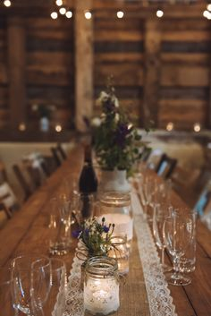 D&J Wedding Ideas 2019 Hessian Lace Table Cloth Runner Decor Rustic Home Made Country Barn Wedding l