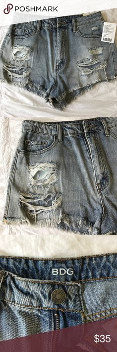 """Urban Outfitters BDG Jean Shorts Ripped """"cheeky"""" denim shorts from Urban Outfitters BDG Shorts Jean Shorts"""