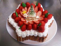 クリスマスに!星型いちごケーキ by MANOB