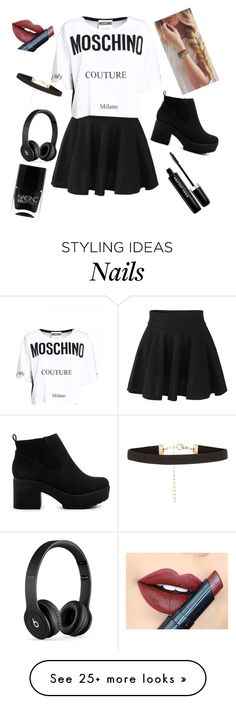 """""""I love this """" by nikola-sperlikova on Polyvore featuring Moschino, ASOS, Marc Jacobs, Nails Inc., Beats by Dr. Dre and Fiebiger"""