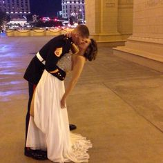 Marine corp ball dress