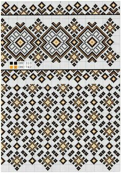 Cross Stitch Borders, Cross Stitch Flowers, Cross Stitch Charts, Cross Stitching, Cross Stitch Patterns, Folk Embroidery, Cross Stitch Embroidery, Embroidery Patterns, Crochet Patterns