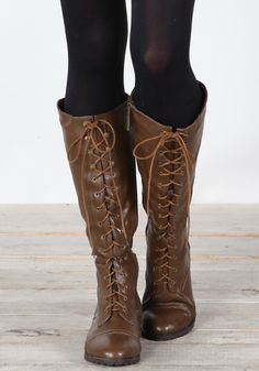 Breckelle's Outlaw-13 Brown Lace Up Knee Boots | MakeMeChic.com ...