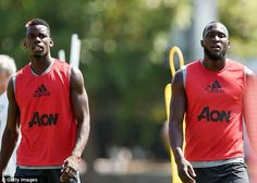 Lukaku (right) is good friends with Paul Pogba (left) and will look to hit the ground running Premier League Champions, Tv Schedule, Paul Pogba, Manchester United Football, English Premier League, Man United, Latest Video, Football Players, Ronaldo