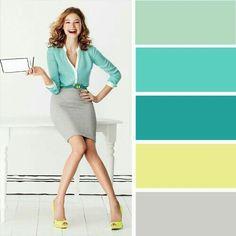 Colour Combinations Fashion, Color Combinations For Clothes, Fashion Colours, Colorful Fashion, Color Combos, Color Schemes, Color Harmony, Color Balance, Bright Spring