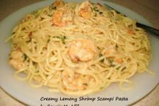 Creamy Lemony Shrimp Scampi Pasta