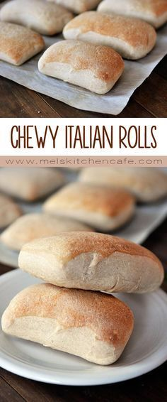 Chewy Italian Rolls are rustic Italian bread in mini form.These Chewy Italian Rolls are rustic Italian bread in mini form. Rustic Italian Bread, Rustic Bread, Italian Bread Recipes, Banana Bread Recipes, Monkey Bread, Italian Rolls, Biscuits, Food C, Bread Bun
