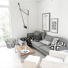 39 Gorgeous Scandinavian Living Room Design Ideas is part of Cozy Living Room Scandinavian - he Scandinavian look is a bright, airy style that makes you feel like you can breathe easier just by stepping […] Ikea Living Room, Cozy Living Rooms, Apartment Living, Interior Design Living Room, Living Room Designs, Interior Colors, Living Room Decor Grey Couch, Interior Livingroom, Interior Ideas