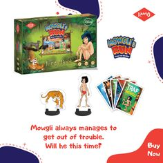 Will Shere Khan be able to drive away the man cub? Explore this extremely thrilling board game played with a deck of cards, figurines of Mowgli and Shere Khan and help find ways to save Mowgli. Disney Games, Disney Movies, Man Cub, 6 Year Old, Deck Of Cards, Games To Play, Cubs, The Book, Board Games