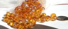 Czech Glass Beads 8mm Round Pressed Druk Bead // Beads for