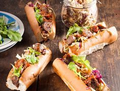 These spicy rolls are perfect weekend food. Enjoy with an ice-cold beer if you like. South African Dishes, South African Recipes, Ethnic Recipes, Hot Dogs, Hot Dog Buns, Caramel Chicken, Tapas, Wine Recipes, Cooking Recipes