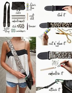 My DIY Projects: Embellished your bag strap