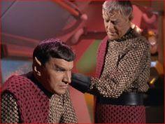 "The Romulan Commander (Mark Lenard) and Centurion (John Warburton) - Star Trek: The Original Series S01E14: ""Star Trek: Balance of Terror"" (First Broadcast: December 15, 1966)"