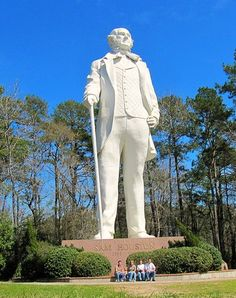 Huntsville, TX features the largest statue of an American hero. A fitting tribute to our great Sam Houston!  Read the blog... http://blog.tourtexas.com/blog/the-texas-travelin-man-2/sam-houston-a-giant-among-men