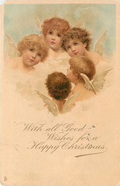 Frances Brundage,antique Christmas postcard.