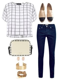 """Untitled #2479"" by abbyolson on Polyvore featuring Myne, Chanel, Kenneth Jay Lane and H&M"