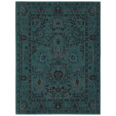 Home Decorators Collection Overdye Teal 7 ft. 10 in. x 10 ft. Area Rug - C3251A240305HD - The Home Depot