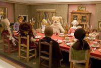 """""""Dolls' Christmas Lunch,"""" part of the Girard Collection at the Museum of International Folk Arts, Santa Fe, NM."""