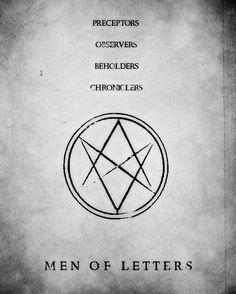 supernatral letters  | Supernatural men of letters