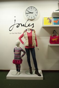 // display // visual merchandising // fashion // joules // wellies //
