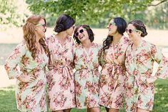 """Trending Now: 25 Matching """"Getting Ready"""" Outfits for Bridesmaids"""
