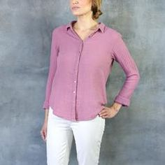 Xirena Scout Long Sleeve Gauze Button Up Wild Rose – Tamarind