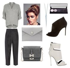 """""""Sweet Grey"""" by rosehage on Polyvore featuring River Island, 3.1 Phillip Lim, Alexander McQueen, Giuseppe Zanotti, Gianvito Rossi, women's clothing, women, female, woman and misses"""