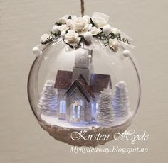 My Craft and Garden Tales: Christmas ornament with a small winter scene
