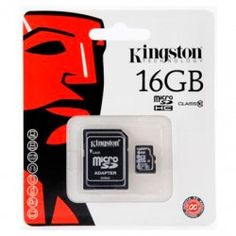 Kingston 16 GB Class 4 MicroSDHC Flash Card with SD Adapter - Product Description: This Kingston MicroSD / TransFlash Card w/SD Adapter is for you to expand th Kingston Technology, Carte Sd, Smartphone, How To Read Faster, Flash Memory Card, Usb, Sd Card, Cell Phone Accessories, Electronics Accessories