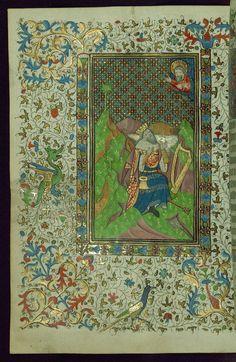 Book of Hours King David penitent Walters Manuscript W.267 fol. 134v by Walters Art Museum Illuminated Manuscripts