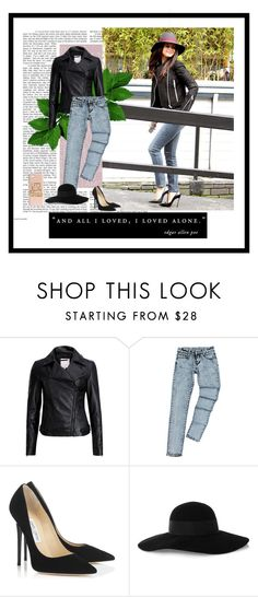 """""""Bez naslova #10"""" by neyra11 ❤ liked on Polyvore featuring Ted Baker, Jimmy Choo, Eugenia Kim and H&M"""