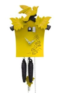 Cuckoo Clock 1-day-movement Modern-Art-Style 24cm by Rombach & Haas