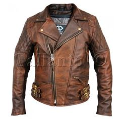 Only available with us, is the classic diamond in brown antique leather. Due to high demand, we have turned this classic diamond into a rustic fashion/biker jacket.