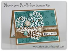 Stampin Up Bloomin Love Stamp Set and Bundle, card by Sandi @ www.stampinwithsandi.com