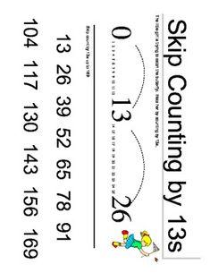 Skip Counting Charts (W7-W11)