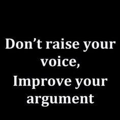 How to argue...