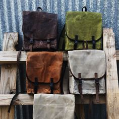 """Anhaica Bag Works' The Mini is a canvas bag handwaxed with locally sourced beeswax in a """"mini"""" size. It's fully lined with vinyl to increase water resistance."""