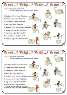Wechselpräpositionen & Verbkonjugation _ Übung _ Präsens/ Dativ Dativ Deutsch, Deutsch Language, Kindergarten Portfolio, German Grammar, German Language Learning, Cycle 2, Learn German, Prepositions, Kids Education